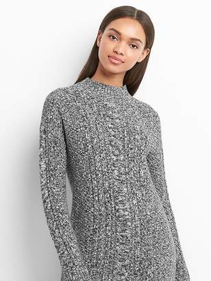 Gap Mockneck cable-knit sweater dress