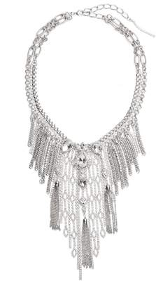 CRISTABELLE Chain Fringe Necklace