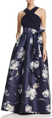 Eliza J Printed Ball Gown