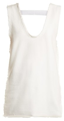 Jw Anderson - Frayed Edge Cotton Jersey Top - Womens - White