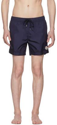 Moncler Navy Small Logo Swim Shorts