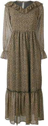 Liu Jo leopard tiered maxi dress