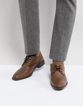 Ben Sherman Smart Derby In Brown Leather