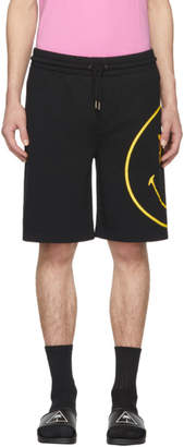 Palm Angels Black PA Smiling Lounge Shorts