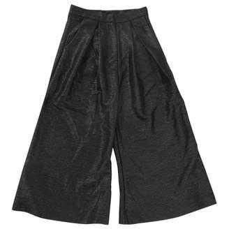 Aq/Aq Aqaq Black Trousers for Women