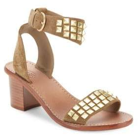Ash Pearl Studded Leather Sandals