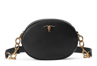 Ralph Lauren Steer-Head Leather Crossbody