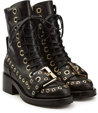 N°21 N21 Embellished Leather Ankle Boots