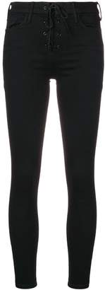 Mother lace-up skinny jeans