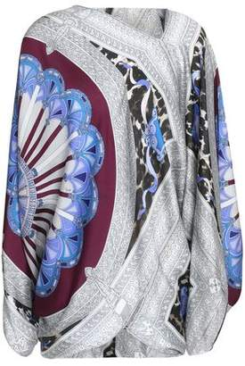 Emilio Pucci Asymmetric Printed Silk Top