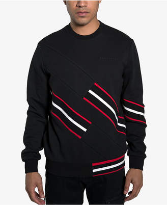 Sean John Mens Rib Stripe Sweatshirt