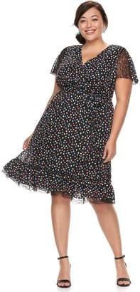Plus Size Chaya Wrap Ruffle Hem Dress