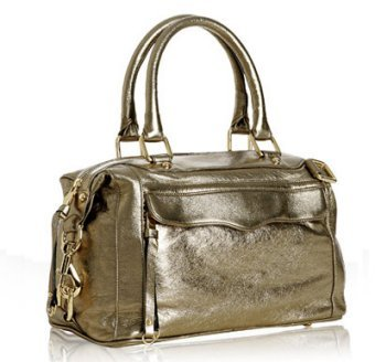 Rebecca Minkoff pale gold leather 'Morning After Mini' bag