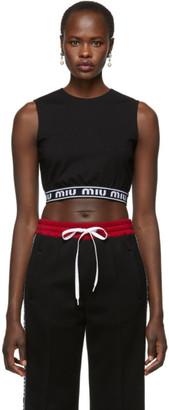 Miu Miu Black Logo Band Tank Top