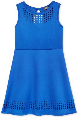 Pink & Violet Laser-Cut Skater Dress, Big Girls (7-16) $56 thestylecure.com