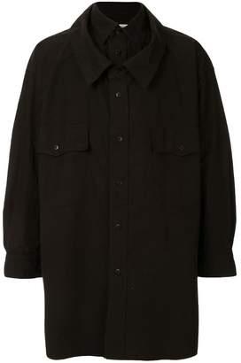 Puma Maison Yasuhiro oversized double layer shirt