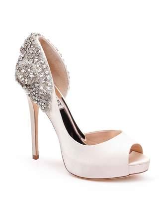 Badgley Mischka Vicki Crystal Embellished Peep Toe Pump