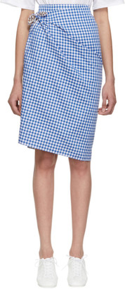 Ports 1961 Blue and Brown Gingham Multi-Styling Skirt