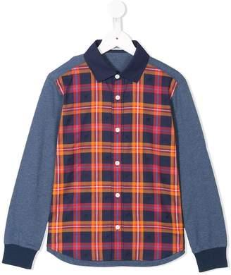 Familiar color blocked long sleeve shirt