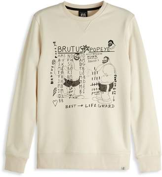 Scotch & Soda Brutus Graphic-Print Cotton Blend Sweater
