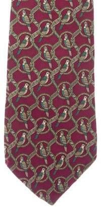 Salvatore Ferragamo Silk Printed Tie