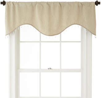 JCPenney Home ExpressionsTM Cassidy Scalloped Rod-Pocket Crushed Valance