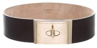 Givenchy Leather Shark-Lock Belt
