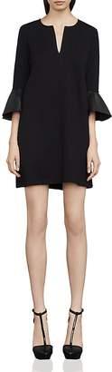 BCBGMAXAZRIA Catier Faux-Leather Trimmed Dress