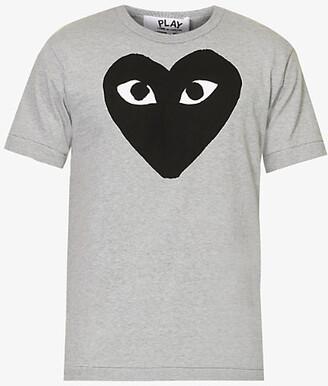 COMME DE GARCON PLAY Heart-print cotton-jersey T-shirt