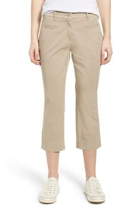 Brax Sunny Stretch Cotton Slit Hem Pants