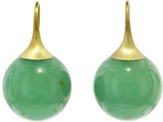 Irene Neuwirth 16mm Chrysoprase Sphere Earrings - Yellow Gold