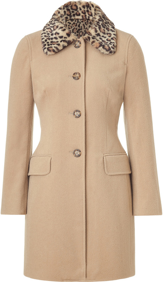 Moschino C&C Camel Wool-Blend Coat
