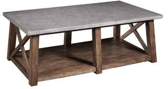 HomeFare Farmhouse Style Distressed Cocktail Table