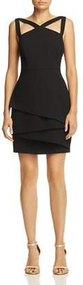 BCBGMAXAZRIA Strap-Detail Crepe Dress - 100% Exclusive