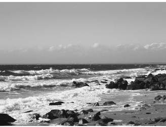 Buy Art For Less 'Photo of Black and White Waves Beach Scene' Joseph Condon Photographic Print on Wrapped Canvas