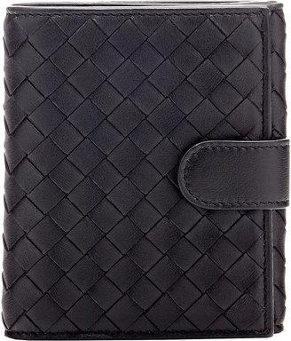 Bottega Veneta Women's Intrecciato Mini Wallet $550 thestylecure.com