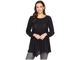 Nally & Millie Brushed Asymmetric Hem Bracelet Sleeve Tunic Women's Blouse