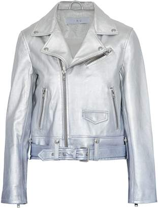 IRO Metallic Degrade Leather Biker Jacket