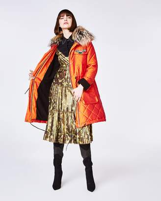 Nicole Miller Quilted Nylon Puffer Coat