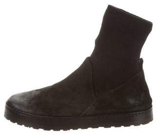 Marsèll Round-Toe Sock Ankle Boots