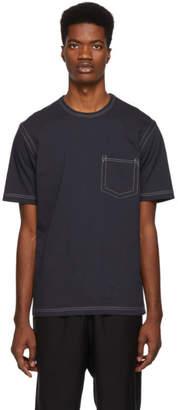 Comme des Garcons Homme Grey Contrast Stitch T-Shirt