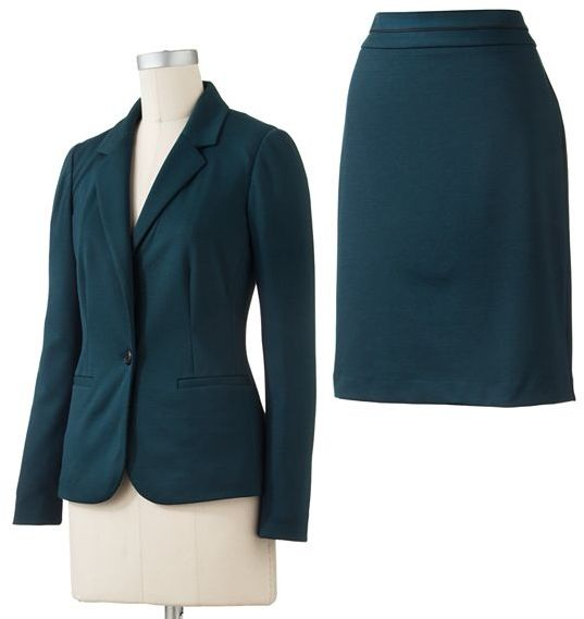 212 Collection Solid Ponte Suit Separates