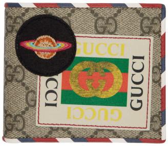 Gucci Beige GG Supreme Courrier Wallet