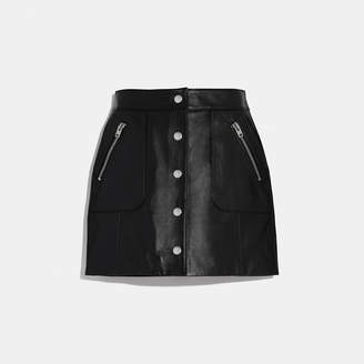 53cc94f64 Leather Skirt With Front Pockets - ShopStyle UK