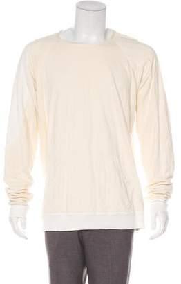 Greg Lauren 2017 Raglan Pullover Distressed Sweatshirt