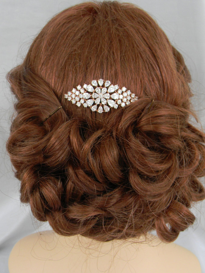 Etsy Rose Gold Hair Comb, Silver, Gold Wedding Tiara, Crystal Hair Comb, Crystal Tiara, Breyton Hair Com