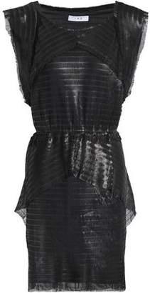 IRO Layered Metallic Woven Mini Dress