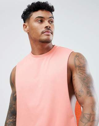 Asos DESIGN tank with extreme dropped armhole in pink