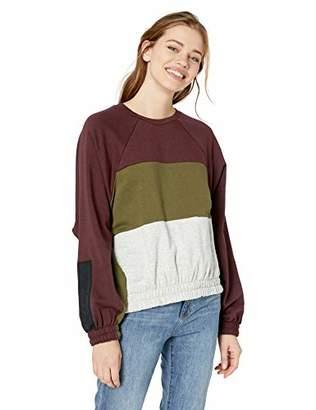 Hurley Women's Apparel Junior's Dolman Fleece Long Sleeve Crew Neck Sweatshirt