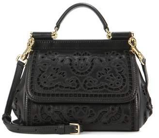 Dolce & Gabbana Sicily Mini leather crossbody bag